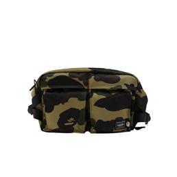 BAPE Porter 1st Camo Waist Bag Green
