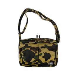 BAPE Porter 1st Camo Shoulder Bag Greeb