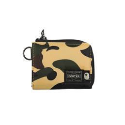 BAPE Porter 1st Camo Mini Wallet Yellow
