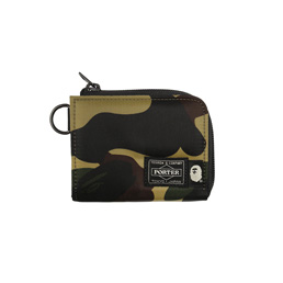 BAPE Porter 1st Camo Mini Wallet Green