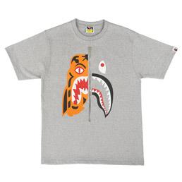 BAPE Tiger Shark T-Shirt Grey