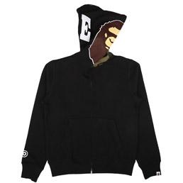 BAPE 2nd Ape Hoodie Black