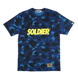 BAPE Gradation Camo Bape T-Shirt Navy