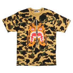 BAPE 1st Camo Tiger T-Shirt Yellow