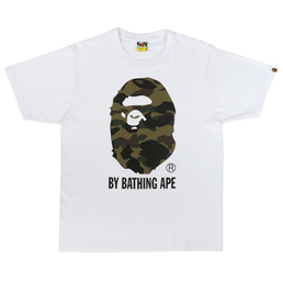BAPE 1st Camo BY Bathing T-Shirt White/ Green