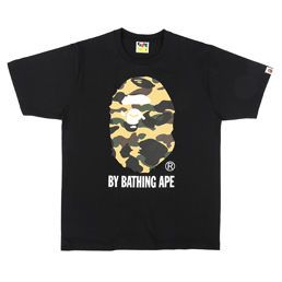 BAPE 1st Camo BY Bathing T-Shirt Black/ Yellow