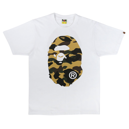 BAPE 1st Camo Big Ape Head T-Shirt White/ Yellow