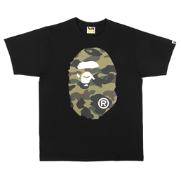 BAPE 1st Camo Big Ape Head T-Shirt Black/ Green