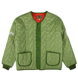 BAPE Quilted Jacket Olive Drab