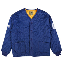 BAPE Quilted Jacket Navy