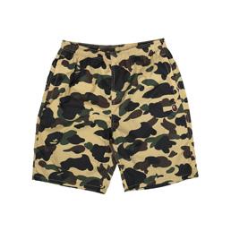 BAPE 1st Camo Beach Pants Yellow