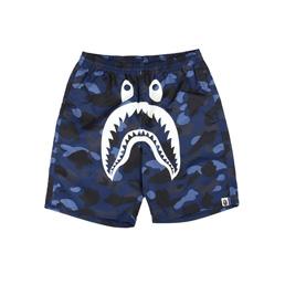 BAPE Color Camo Shark Beach Pants Navy