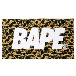 BAPE 1st Camo Beach Towel Yellow
