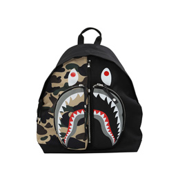 BAPE 1st Camo Shark Day Pack Yellow