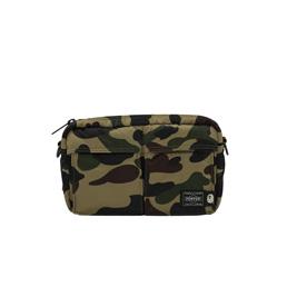 BAPE X HP 1st Camo  Shoulder Bag Green