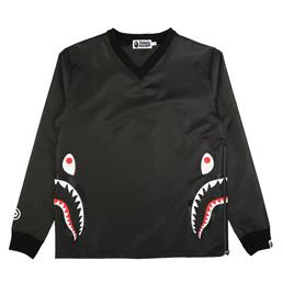 BAPE Side Zip Shark Windbreaker Black