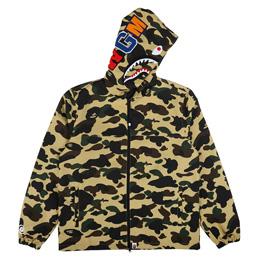 BAPE 1st Camo Shark Hood Jacket Yellow