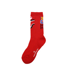 BAPE Shark Socks Red