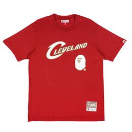 BAPE Cavs T-Shirt Burgundy