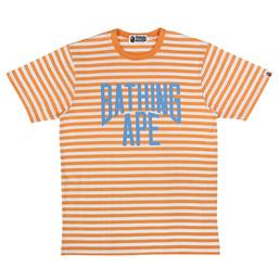 BAPE NYC Logo Hoop T-Shirt Orange