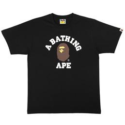 BAPE College T-Shirt Black