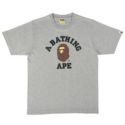 BAPE College T-Shirt Grey