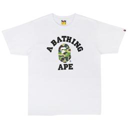 BAPE ABC College T-Shirt White/ Green
