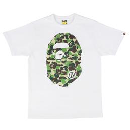 BAPE ABC Big Ape Head T-Shirt Wht/Grn