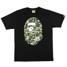 BAPE ABC Big Ape Head T-Shirt Blk/Grn