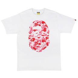 BAPE ABC Big Ape Head T-Shirt Wht/Pnk