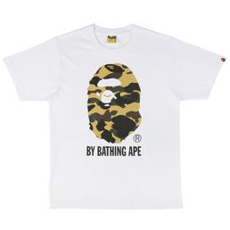 BAPE 1st Camo By Bathing T-Shirt Wht/Yel