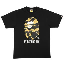 BAPE 1st Camo By Bathing T-Shirt Blk/Yel