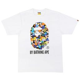 BAPE Multi Camo By Bathing T-Shirt White
