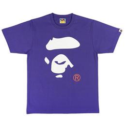 BAPE Colors Ape Face T-Shirt Purple