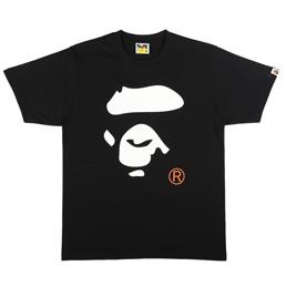 BAPE Colors Ape Face T-Shirt Black