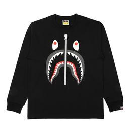 BAPE Shark L/S T-Shirt Black