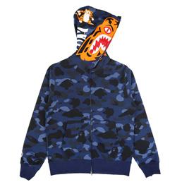 BAPE Color Camo Tiger Full Zip Hood Navy