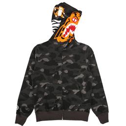 BAPE Color Camo Tiger Full Zip Hood Black