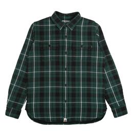 BAPE Shark Flannel Check Shirt Green