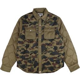 BAPE 1st Camo Quilting Jacket Green