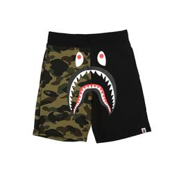 BAPE Shark Sweat Shorts Black