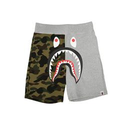 BAPE Shark Sweat Shorts Grey
