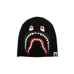 BAPE 2nd Shark Knit Cap Black