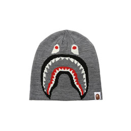 BAPE 2nd Shark Knit Cap Grey