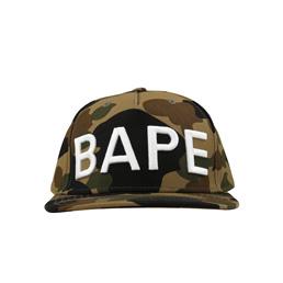 BAPE 1st Camo Snap Back Cap Green