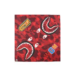 BAPE Color Camo Shark Bandana Red
