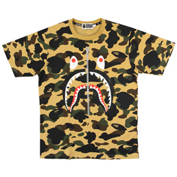 BAPE 1st Camo Shark T-Shirt Yellow