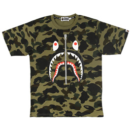 BAPE 1st Camo Shark T-Shirt Green