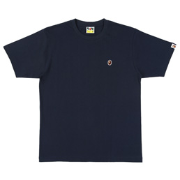 BAPE Ape Head One Point T-Shirt Navy