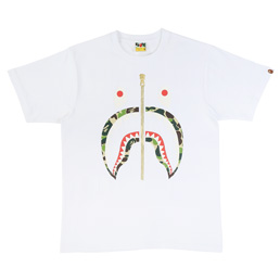 BAPE ABC Shark T-Shirt White/Green